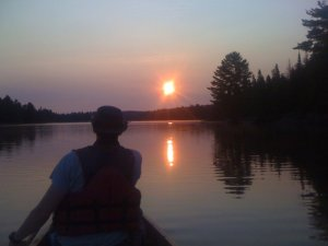Sunrise on Joe Lake as Dave and I set out for our Brent Run in 2011