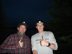 Mark and I were still in good spirits after 20plus hours of paddling.