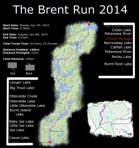 The Brent Run Map
